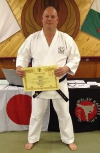 3rd Dan Black Belt :- Jason Hayward