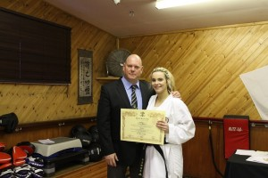 2nd Dan Black Belt Lauren Hayward