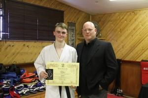 1st Dan Black Belt :- Ioan Evans