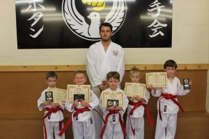 Red Belts Ashleigh Williams, Jacob Williams-Jones,Rhodri jones,Jac Stuart-Lavender, Rhys Stuart-Lavender, Bryn Lawlor