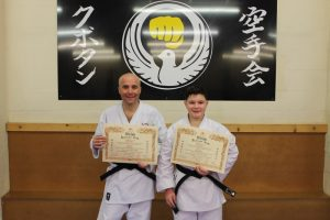 Kubotan Karate Black Belts - Adam Bowen, Mark Whitby