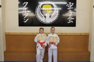 Kubotan Karate Orange Belts - Maddison Whitby, Holly Griffiths