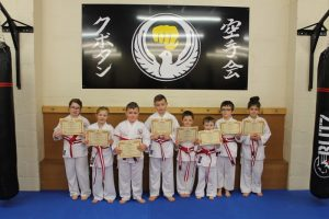 Kubotan Karate - Stripe Belts - Baidie Gower, Naomi Hedges, Holly John, Owain Jones, William Jones, Cooper Hughes, Aiden Giddings, Finley Kiss