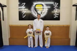Kubotan Karate Yellow Belts - Ashleigh Williams, Jacob Williams-Jones, Eliska Richards