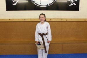 Kubotan Karate - Swansea Karate - 3rd Kyu Brown Belt - Amy Thomas