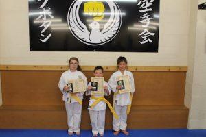 Kubotan Karate Yellow Belts - Baidie Gower, Naomi Hedges, Cooper Hughes