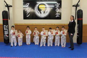 1 Karate Kids December grading 2018