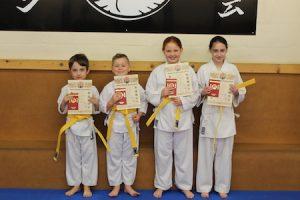 4 Yellow belts kubotan karate 2018