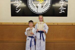 6 Blue belts kubotan karate 2018