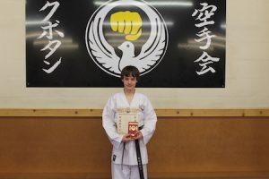 7 2nd Kyu Brown kubotan karate 2018