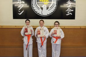 Orange Belts Cerys Bater,Maddie Bater,Baidie Gower