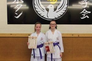 Purple Belts Madison Whitby,Ffion Jenkins