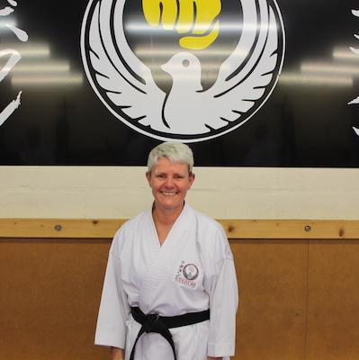 Jackie Mariani Kubotan Karate Black Belt